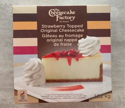 Strawberry topped original cheescake - Product - es
