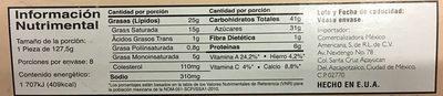 Pastel de Queso Original con cubierta de fresa - Nutrition facts
