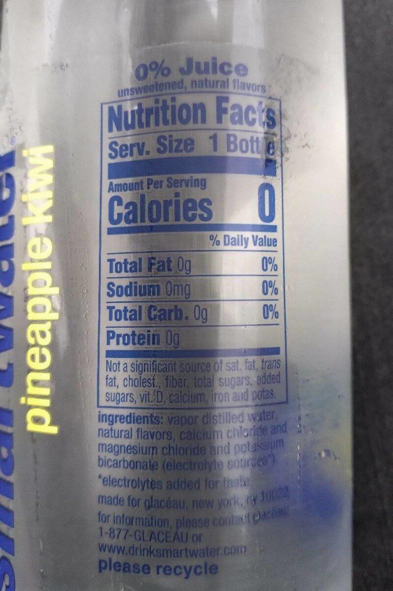 Smart Water (Pineapple Kiwi) - Voedingswaarden - en