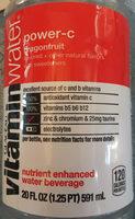 Glaceau, vitamin water, nutrient enhanced water beverage, power-c dragonfruit - Product - en