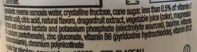 Glaceau, vitamin water, nutrient enhanced water beverage, power-c dragonfruit - Ingredients - en