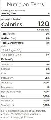 Glaceau, vitamin water, nutrient enhanced water beverage, revive fruit punch, revive fruit punch - Ingredients - en