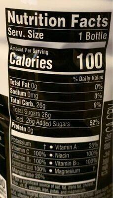Nutrient enhanced water beverage, acai-blueberry-pomegranate - Nutrition facts - en