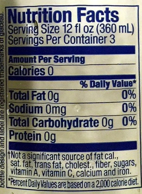 SmartWater - Nutrition facts