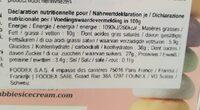 Mochi litchi - Nutrition facts - fr