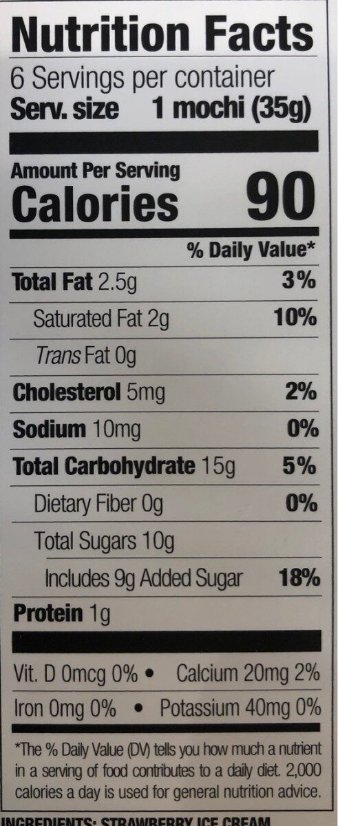 Mochi Premium Collection - Nutrition facts - en