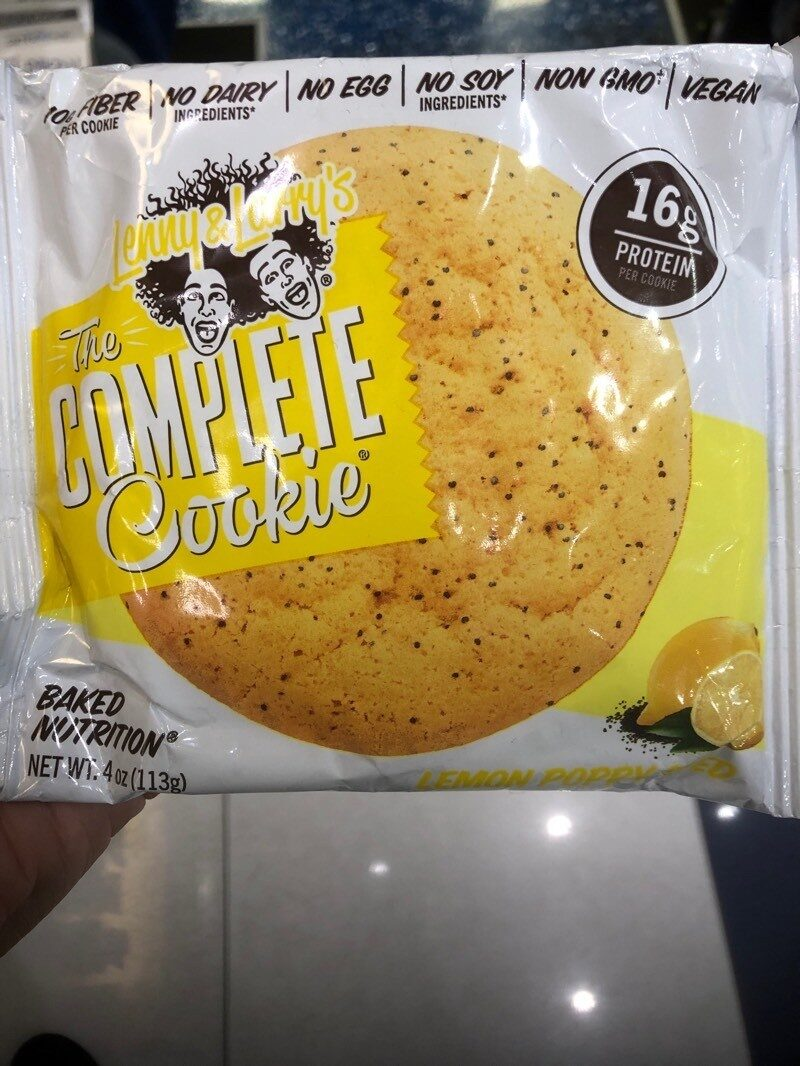 All Natural The Complete Cookie, Lemon Poppy Seed - Información nutricional