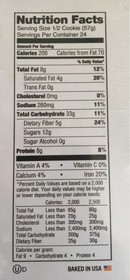 The Complete Cookie - Informations nutritionnelles