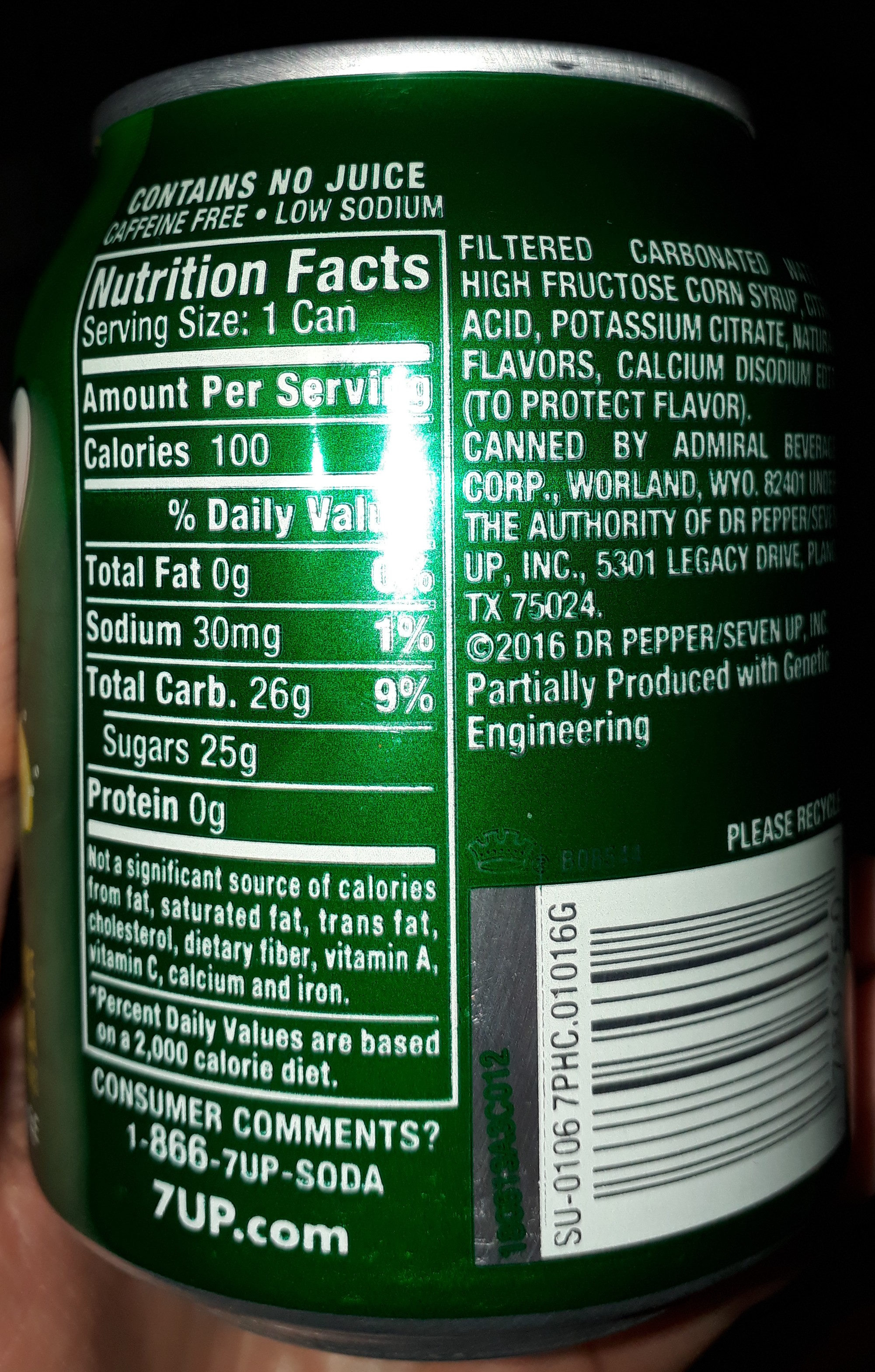 7up - Ingredients