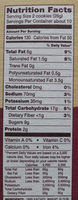 chocolate chunk cookies - Nutrition facts