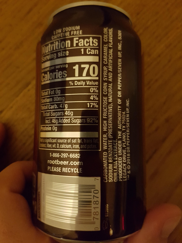 Root beer - Ingredients