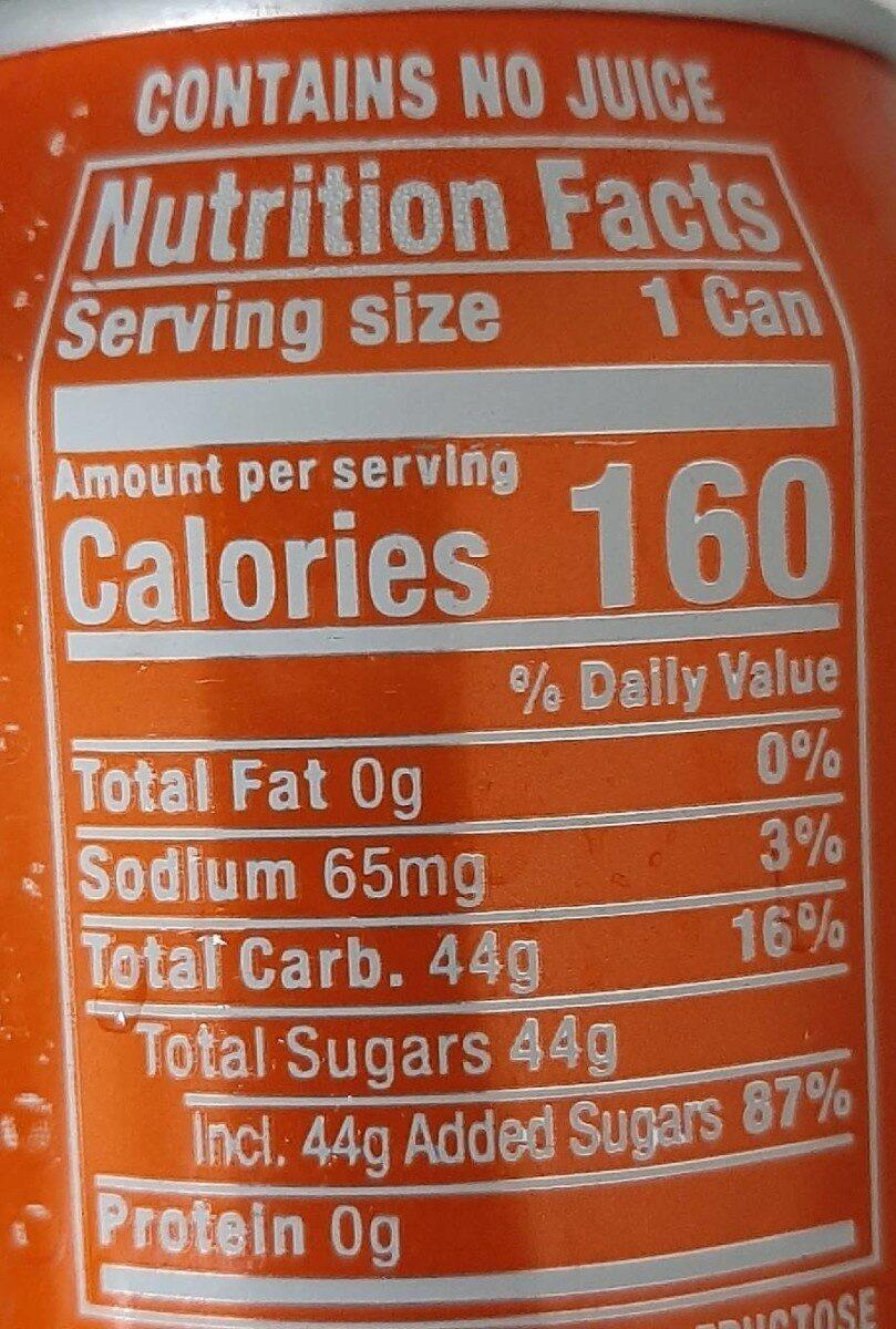 Sunkist Orange Soda - Nutrition facts - en