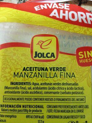 - Ingredients - es