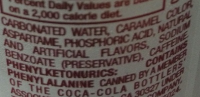 Dr pepper, diet soda - Ingredients - en