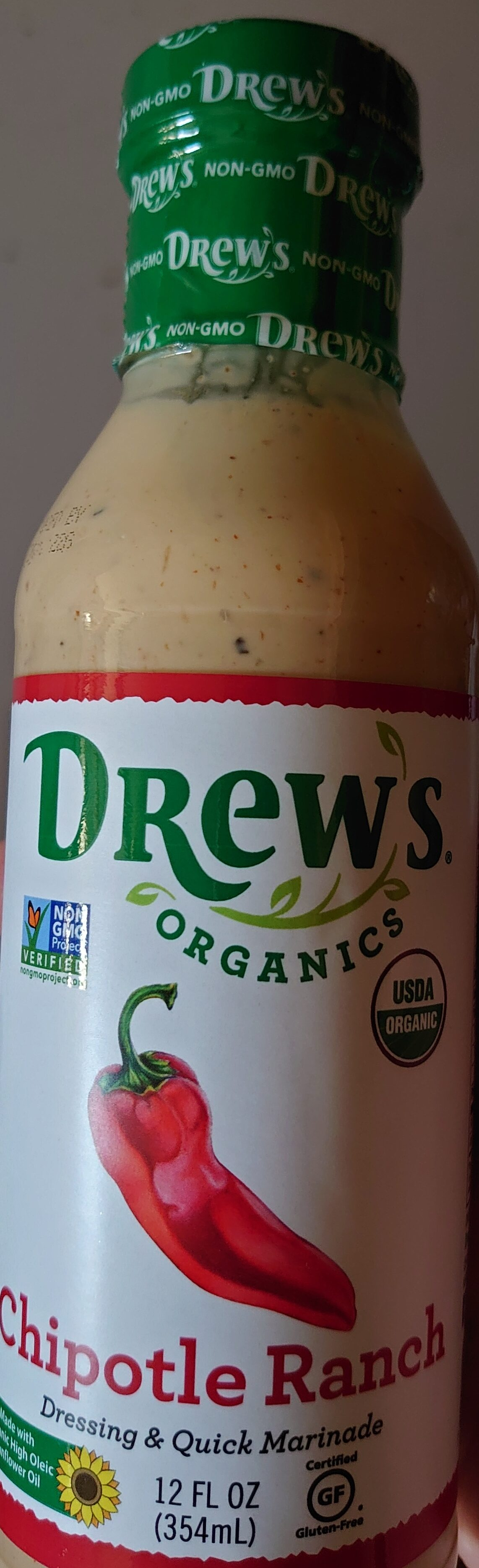Drew's Chipotle Ranch Dressing & quick marinade - Product - en