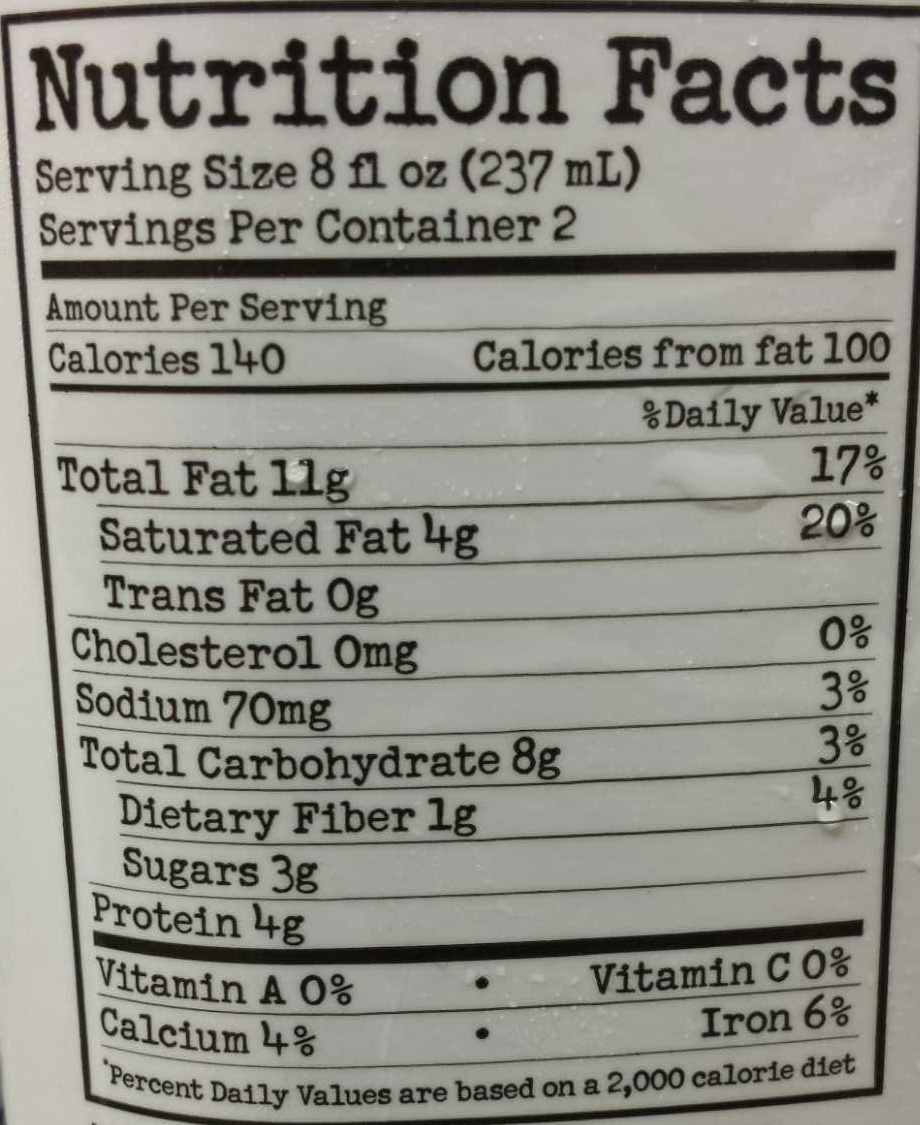Nuts and Chocolate Milk - Nutrition facts - en