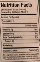 Aloe Vita Zero - Nutrition facts