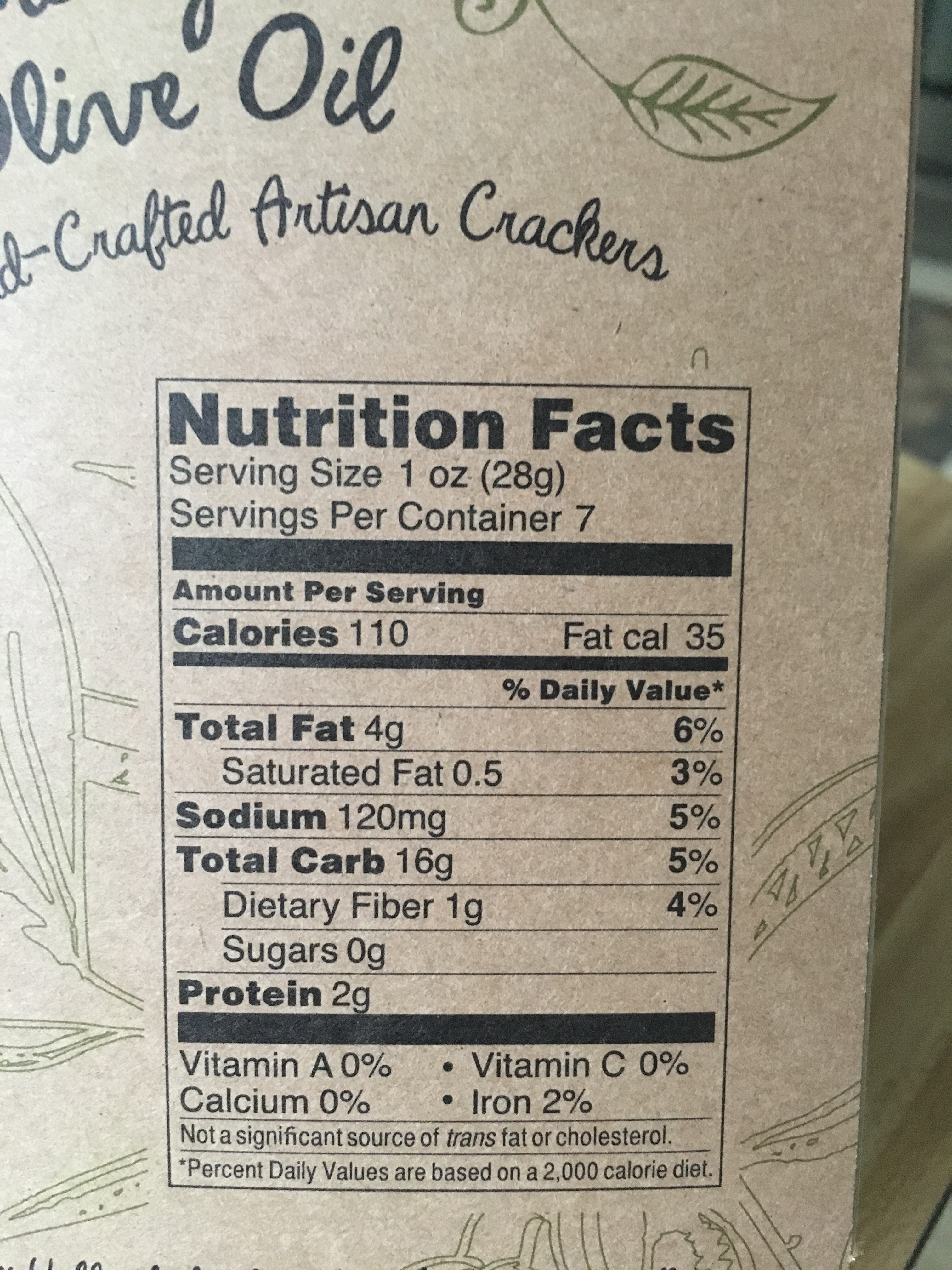 Rosemary & Olive Oil Crackers - Nutrition facts - en