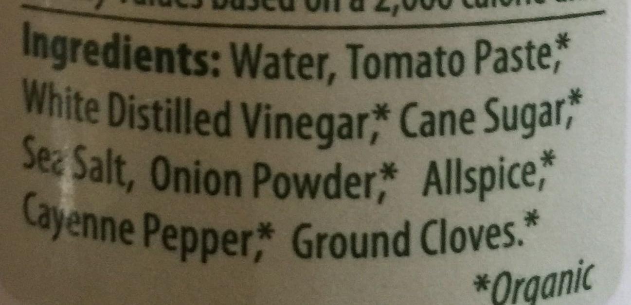Portland Ketchup Company - Ingredients