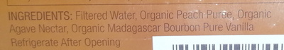 Organic Wild poppy Peach vanilla - Ingredients