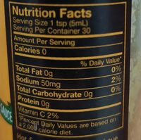 Green hot sauce - Valori nutrizionali - en