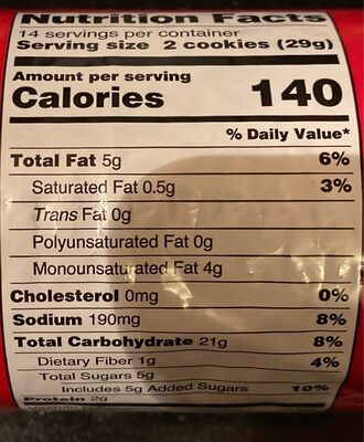 Digestive Classic - Información nutricional - en