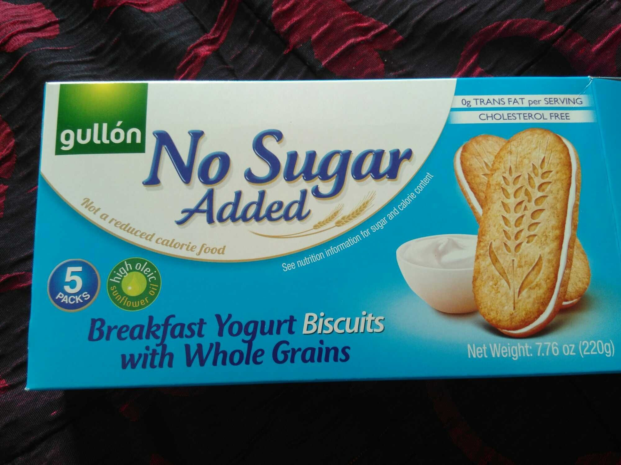 Breakfast yogurt biscuits with whole grains - Producte - en