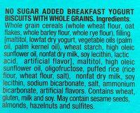 Biscuits Petit-Déjeuner Yaourt aux Céréales Complètes - Sans Sucres Ajoutés - Ingredientes