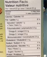 Vitalday. Chocolate breakfast buscuits - Nutrition facts - fr