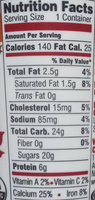 Maple Creamy Australian Style Lowfat - Nutrition facts