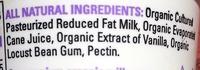 Vanilla Creamy Australian Style Lowfat - Ingrediënten