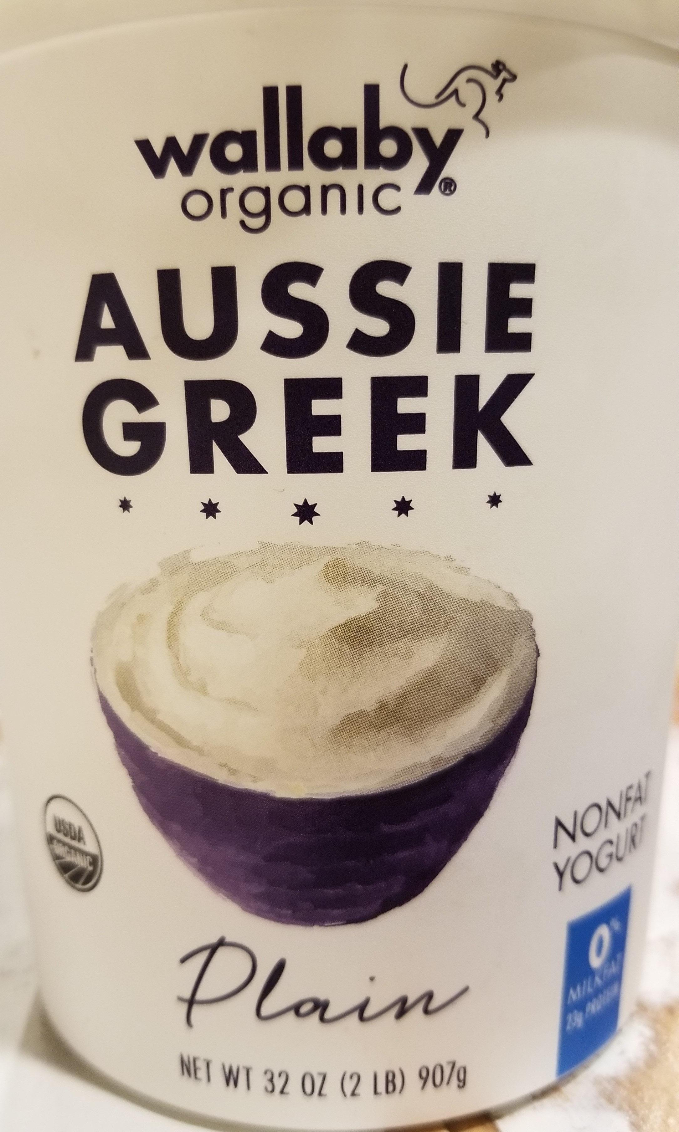 Organic Greek Plain Nonfat Yogurt - Product
