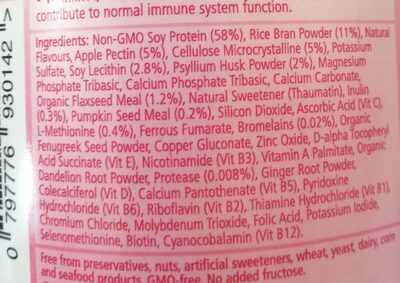 the healthy mummy smootie - Ingredients - en