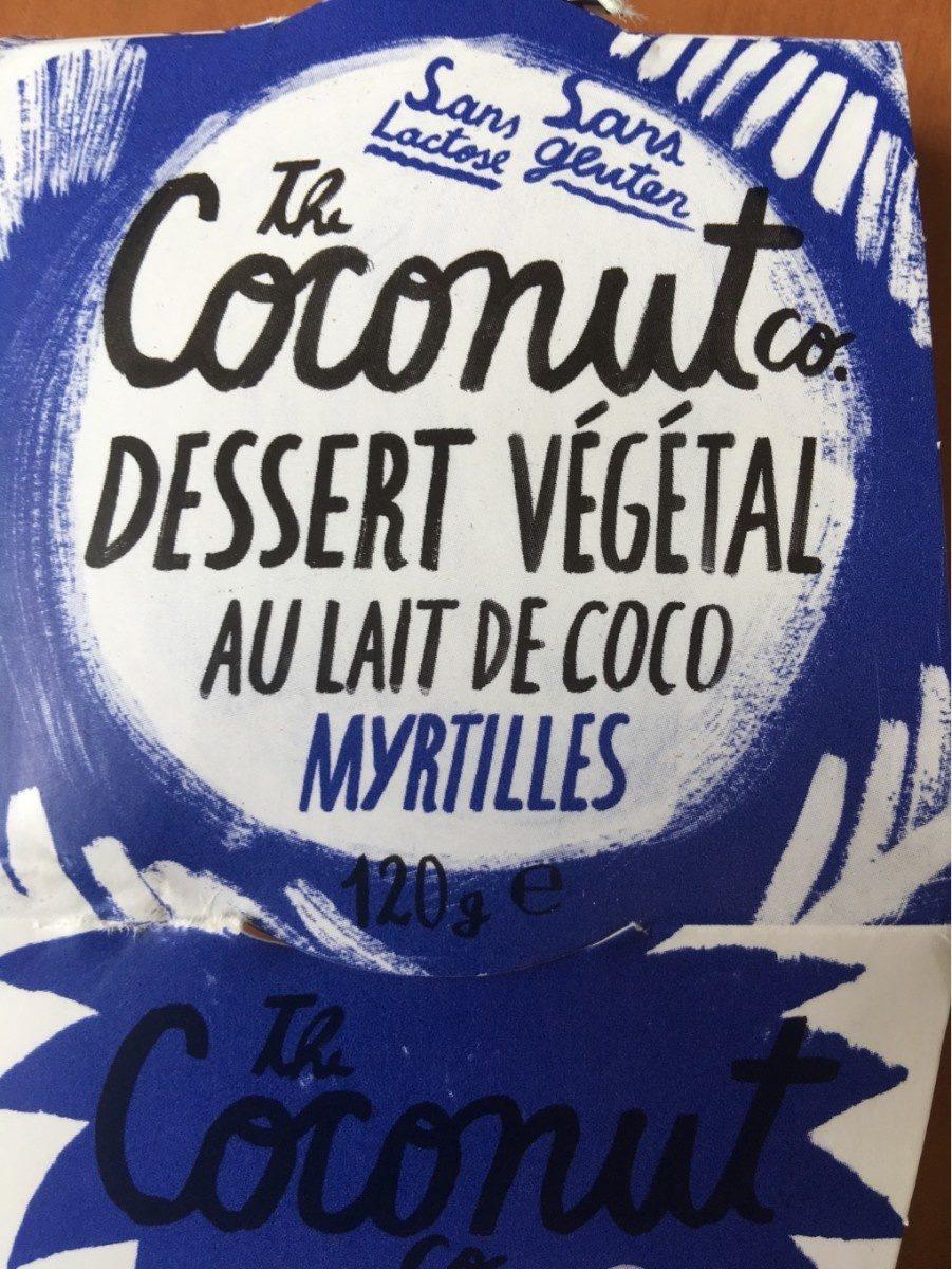 Dessert vegetal myrtilles - Produit - fr