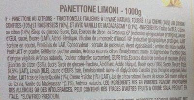 Panettone limoni - Ingrédients