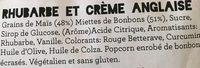 Rhubarb & custard - Ingrédients - fr