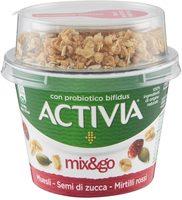 Activia Mix&go Muesli - Semi di zucca e Mirtilli rossi - Prodotto