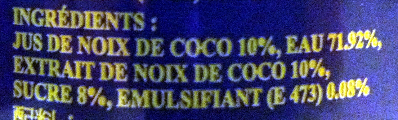 Coconut Drink - Ingrediënten - fr
