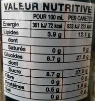 Coconut Drink - Voedingswaarden - fr
