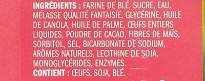 Brownie Soft Baked Cookies - Ingrédients - fr