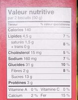 Brownie Soft Baked Cookies - Informations nutritionnelles - fr