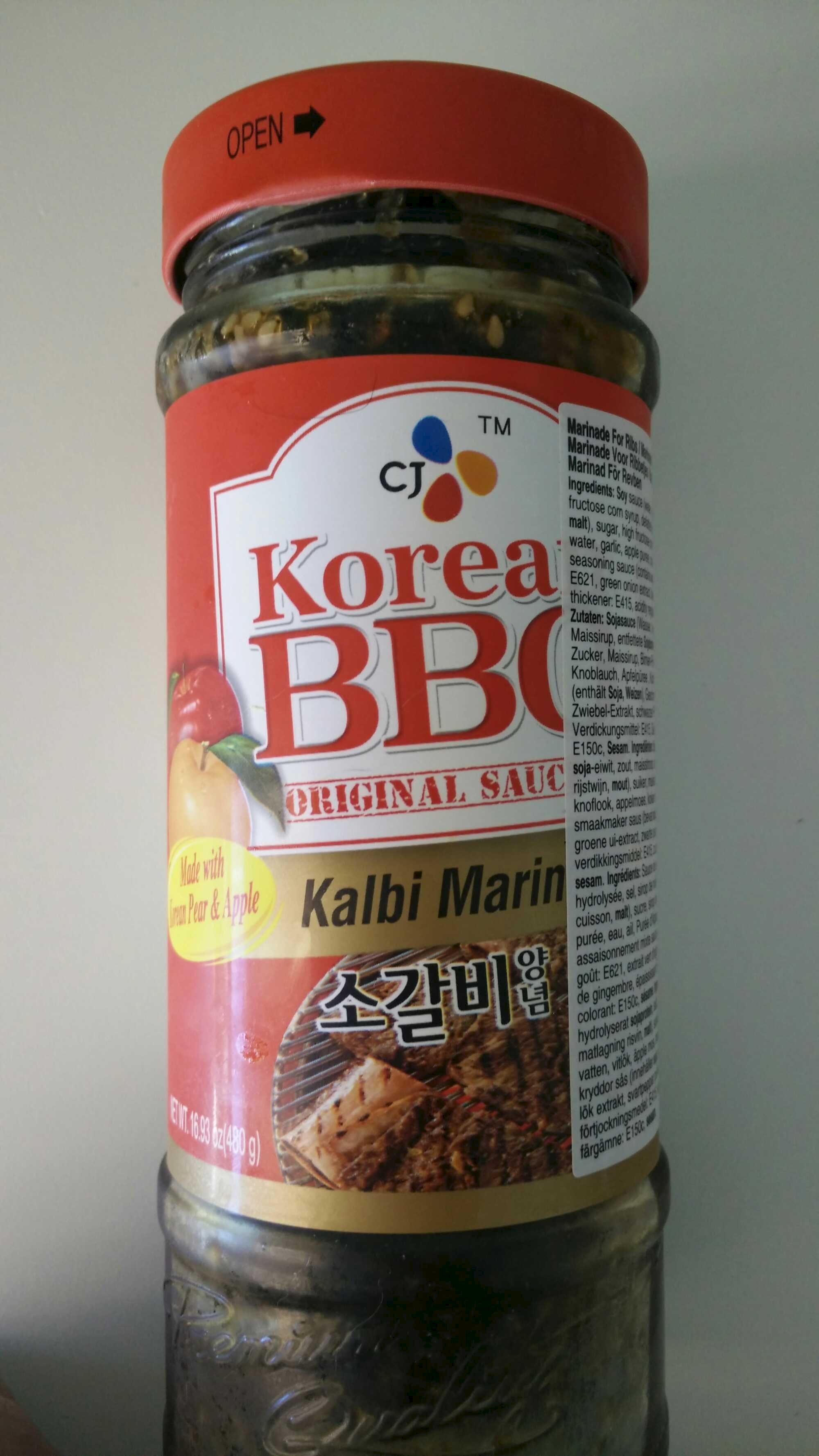 Korean BBQ Original Sauce - Kalbi Marinade - CJ - 480 g