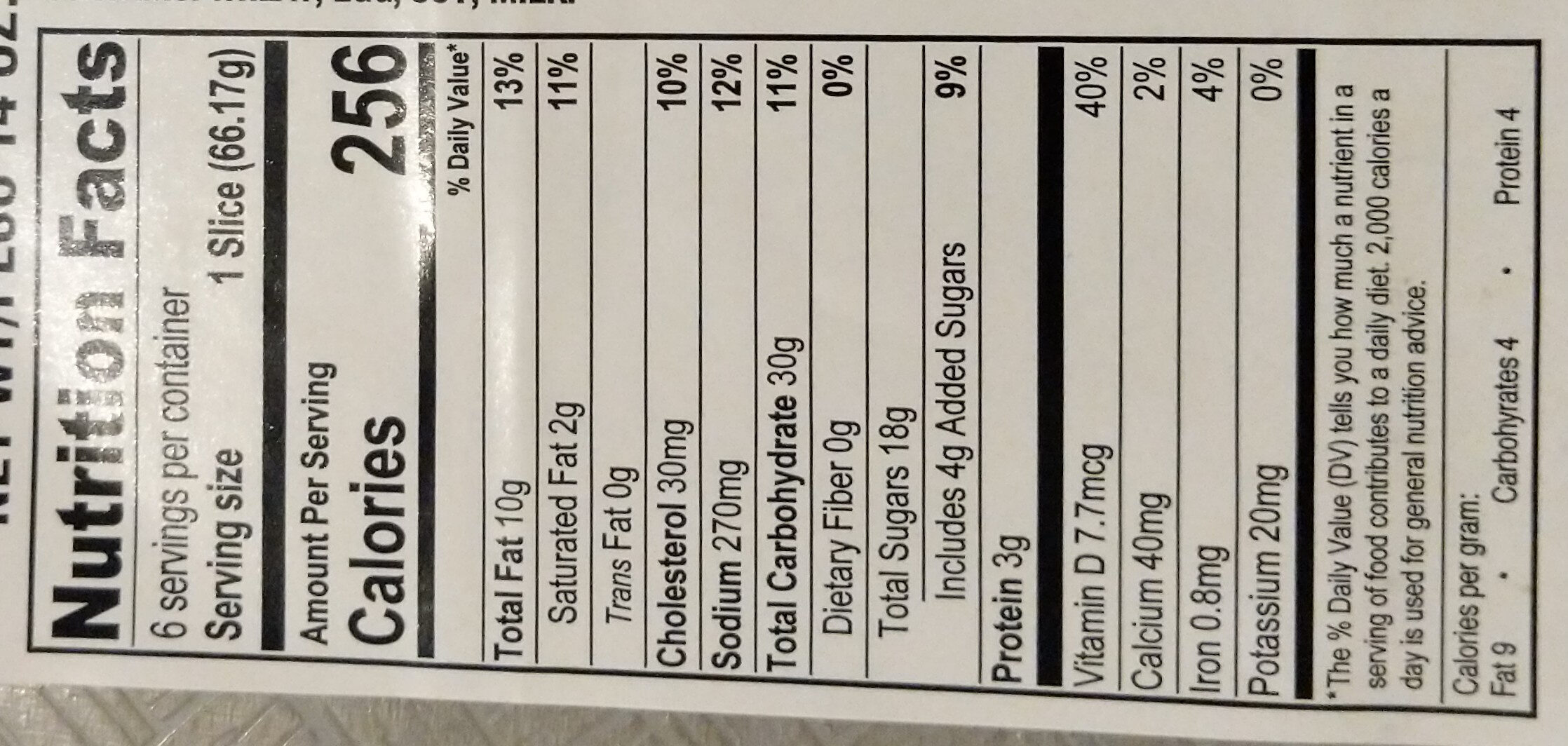 Mini Marble Slices - Nutrition facts - en