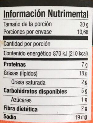 crema de cacahuate Mister - Información nutricional - es