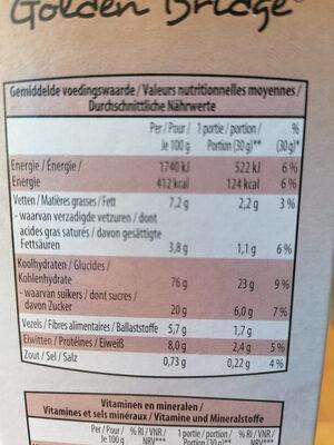 wellness flakes - Voedingswaarden - fr