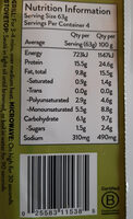 plant-based original sausage Italian - Nutrition facts - en