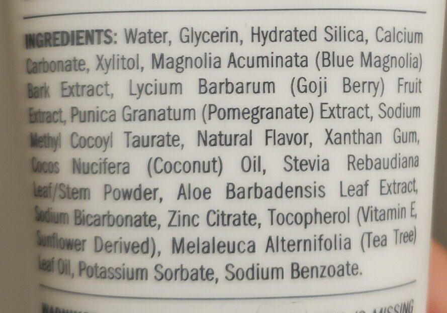 Schmidt's toothpaste - Ingredients