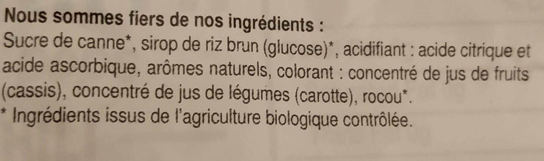 Organic pops - Ingredients - en