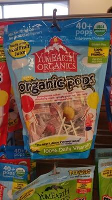Organic Pops, Pomegranate Pucker, Wet-Face Watermelon, Strawberry Smash, Googly Grape, Very Very Cherry, Perfectly Peach, Razzmatazz Berry, Mango Tango - Product