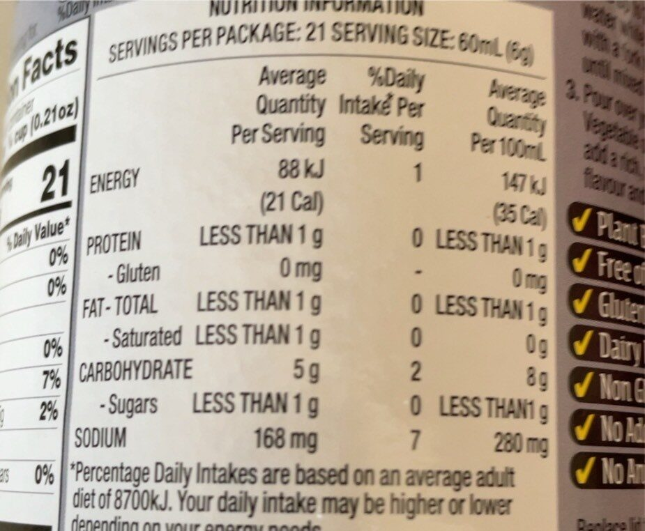 Supreme gravy - Nutrition facts - en